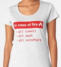 In case of fire - Software Development humor / humour ( Git / Github ) Women's Premium T-Shirt