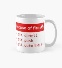 In case of fire - Software Development humor / humour ( Git / Github ) Mug