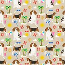 Beagle dog pattern tropical beach summer portrait pattern cute gifts for dog lover dog breeds by PetFriendly by PetFriendly