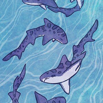 Leopard Sharks by tobiejade