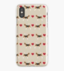 Beagle dog pattern love hearts portrait pattern cute gifts for dog lover dog breeds by PetFriendly iPhone Case/Skin
