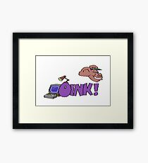Gaming [C64] - Oink! Framed Print