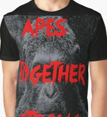 Apes Together Strong - Planet of the Apes Graphic T-Shirt