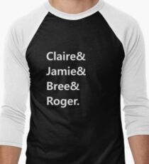 Claire & Jamie & Bree & Roger Men's Baseball ¾ T-Shirt