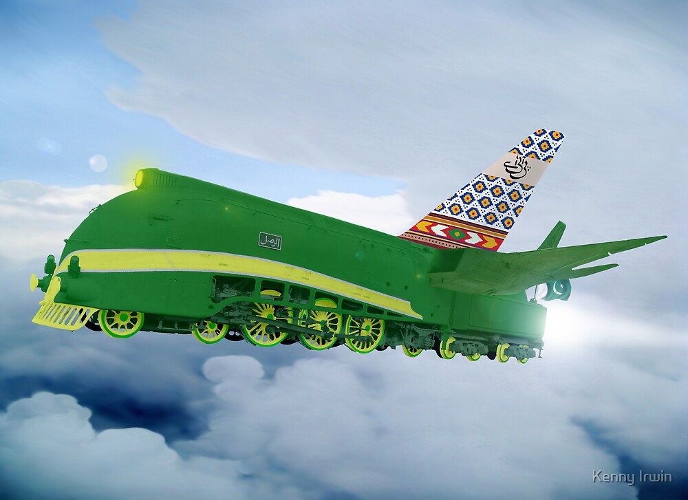 Pakistani Interplanetary Sky Trains by Kenny Irwin