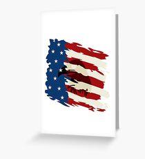 USA Flag Eagle American Pride Greeting Card