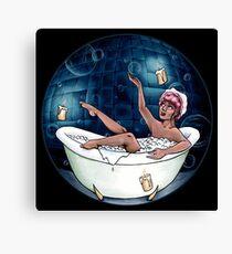 Bubble Bath Babe Canvas Print