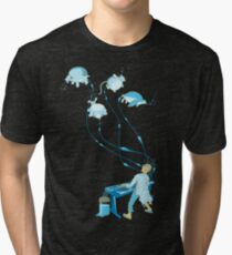 Mad Animal Pianist - Remastered Digital Illustration Tri-blend T-Shirt