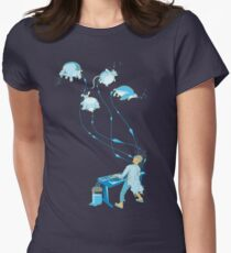Mad Animal Pianist - Remastered Digital Illustration Women's Fitted T-Shirt