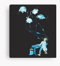Mad Animal Pianist - Remastered Digital Illustration Canvas Print