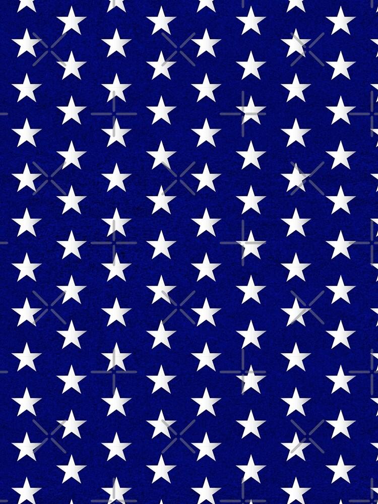Amerikanische Flagge Sterne Muster von ClaudiaFlores