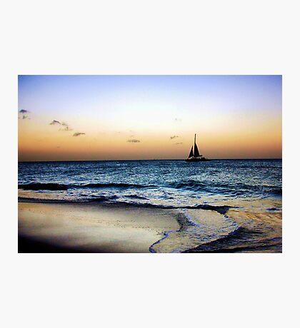 Sailng Through the Sunset Photographic Print
