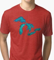 6a2003250aa watercolor Great Lakes Tri-blend T-Shirt