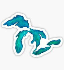 watercolor Great Lakes Sticker