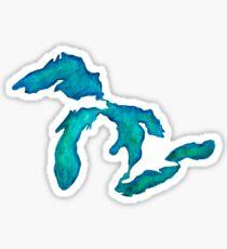 Pegatina Acuarela Great Lakes