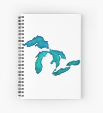 watercolor Great Lakes Spiral Notebook