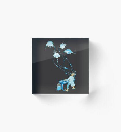 Mad Animal Pianist - Remastered Digital Illustration Acrylic Block