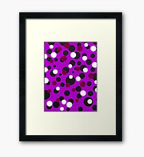 Circles and circles Framed Print