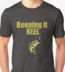 Funny Keeping It Reel - Fishing Angling Design  T-Shirt