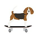 Beagle dog pattern skateboard summer cute gifts for dog lover dog breeds by PetFriendly  by PetFriendly