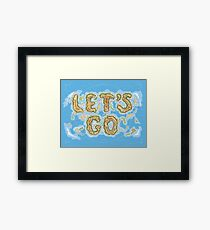 Let's Go Letter Islands Framed Print