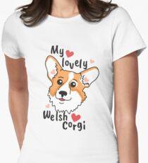 My lovely Welsh Corgi Womens Fitted T-Shirt