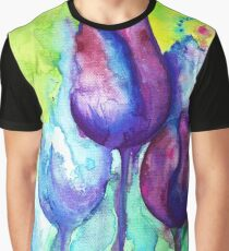 Painted Tulips Graphic T-Shirt