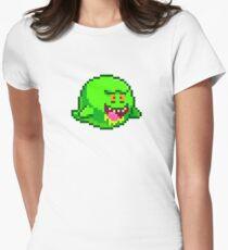 Slimer boo Womens Fitted T-Shirt