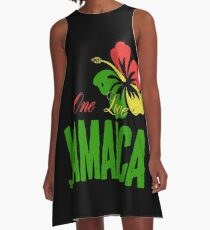 One Love Jamaica A-Line Dress