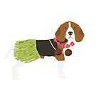 Beagle dog portrait  hula hawaii gifts for dog lover dog breeds by PetFriendly  by PetFriendly