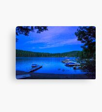 Blue Hour Brant Lake NY Canvas Print