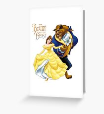 BEAUTY AND THE BEAST Greeting Card
