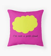 4am in the clouds with Rene Magritte Throw Pillow
