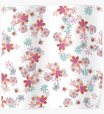 Bits of Flowers Pattern Poster