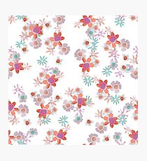 Bits of Flowers Pattern Photographic Print