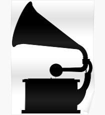 Phonograph (Black) Poster