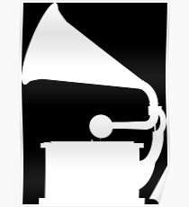 Phonograph (White) Poster