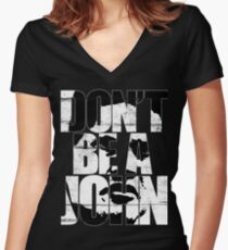 Don't be a John Women's Fitted V-Neck T-Shirt