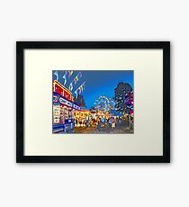Carnival Midway at Twilight Framed Print