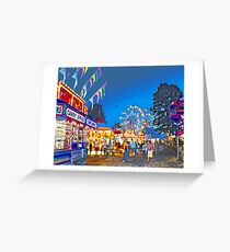 Carnival Midway at Twilight Greeting Card