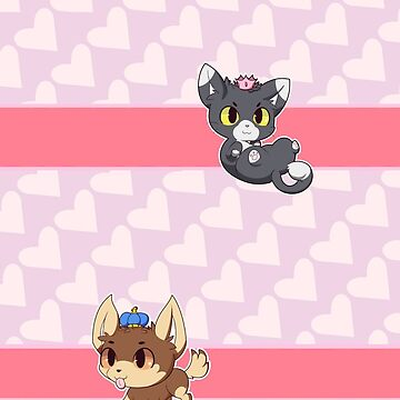 Phone Cover - Chibi Kitty and Doggie Royal Combo by Porpourri
