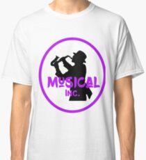 Music Store Retro Logo Saxophone Player Graphic Classic T-Shirt