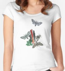 Moths and rocks. Women's Fitted Scoop T-Shirt