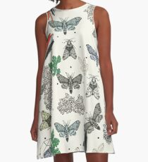 Moths and rocks. A-Line Dress