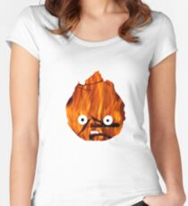 Calcifer Silhouette Women's Fitted Scoop T-Shirt