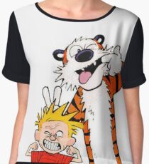 Calvin & Hobbes II Chiffon Top