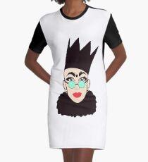Sasha Velour Graphic T-Shirt Dress