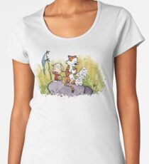 Calvin and Hobbes Adventure Women's Premium T-Shirt