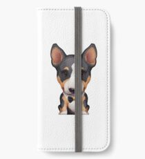Tri Color Bull Terrier Wearing a Bow Tie iPhone Wallet/Case/Skin