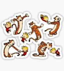 Calvin & Hobbes Dancing Sticker